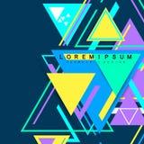 Moderner Hippie-Dreieckhintergrund, Dreieckmuster Abstrakte Technologiedesignschablone in der minimalen Art für Ihr stock abbildung