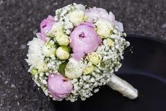 Moderner Hochzeitsblumenstrauß stockbild