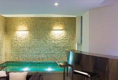 Moderner Hotelbadekurortinnenraum Stockfoto
