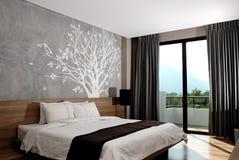 Moderner Hotelzimmer-Innenraum Stockbilder