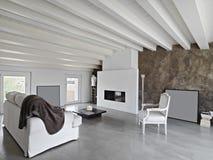 Moderner iiving Raum Stockfoto