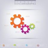 Moderner infographic Schablonengang mit Platz für Stockfotografie