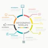 Moderner infographics Kreis lizenzfreie abbildung