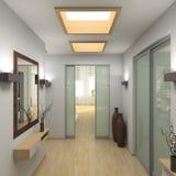 Moderner Innenraum. 3D übertragen Stockfotografie