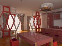 Moderner Innenraum der Küche Lizenzfreie Stockfotografie