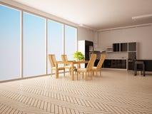 Moderner Innenraum der Küche. Lizenzfreie Stockfotografie