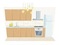 Moderner Innenraum der Küche vektor abbildung