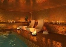 Moderner Innenraum des Badekurortes Lizenzfreie Stockbilder