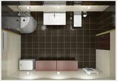 Moderner Innenraum des Badezimmers Lizenzfreie Stockfotos