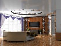 Moderner Innenraum des Schlafens Lizenzfreie Stockfotografie
