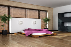 Moderner Innenraum des Schlafens Lizenzfreie Stockbilder
