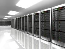 Moderner Innenraum des Serverraumes im datacenter