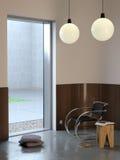 Moderner Innenraum des Winters Lizenzfreie Stockfotos