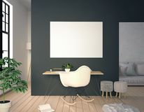 Moderner Innenraum, ein Platz für Studie, bestehend, Schreibtisch a Arbeits Stockbilder