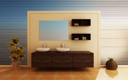 Moderner Innenraum eines Badezimmers Lizenzfreie Stockfotografie