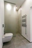 Moderner Innenraum eines Badezimmers mit Dusche Lizenzfreie Stockfotografie