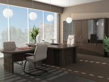 Moderner Innenraum eines Kabinetts Lizenzfreie Stockfotografie
