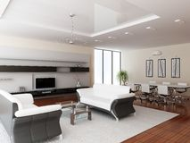 Moderner Innenraum eines Raumes Stockbild