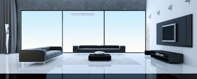 Moderner Innenraum eines Salons Lizenzfreies Stockbild