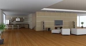 Moderner Innenraum eines Salons Lizenzfreies Stockfoto