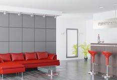 Moderner Innenraum eines Salons Stockbild