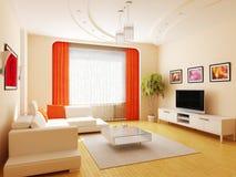 Moderner Innenraum eines Salons Stockbilder