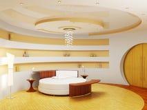 Moderner Innenraum eines Schlafzimmers Stockbild