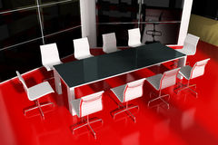 Moderner Innenraum für Sitzungen Stockbild