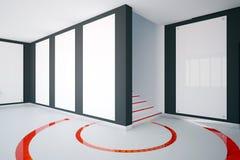 Moderner Innenraum mit Fahnenseite Lizenzfreies Stockbild