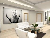 Moderner Innenraum mit Portrait. Lizenzfreie Stockbilder