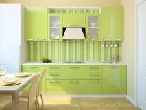Moderner Kücheinnenraum. Lizenzfreies Stockbild