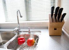 Moderner Kücheinnenraum Lizenzfreies Stockbild