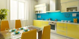 Moderner Kücheinnenraum Stockfotos