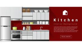 Moderner Küchenhintergrund der Innenarchitektur Lizenzfreie Stockfotos