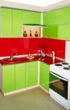 Moderner Kücheninnenraum Stockbild