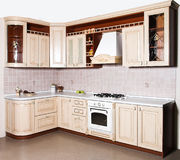 Moderner Kücheninnenraum Lizenzfreies Stockbild