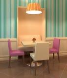 Moderner Kaffeinnenraum. Stockbilder