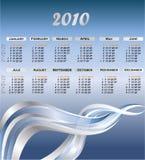 Moderner Kalender für 2010 Lizenzfreies Stockbild