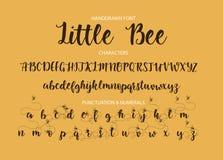 Moderner kalligraphischer Guss Bürste gemalte Buchstaben lizenzfreie abbildung