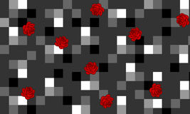 Moderner Kontrasthintergrund mit Rosen lizenzfreie stockbilder