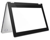 Moderner konvertierbarer Laptop mit leerem Bildschirm Stockfoto