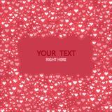 Moderner Kreis des Vektors mögen Herzikonenhintergrund Alle auf weißem Hintergrund Valentinsgruß-Tageseinladung Lizenzfreies Stockbild