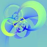 Moderner Kreis formt Fractal Runde Ringform Volles Feld Reine Farben Explosionseffekt Kopieren Sie Raumtext Netz-Tapete render Stockfotografie