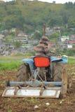 Moderner Landwirt Stockfoto