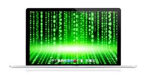 Moderner Laptop auf weißem Hintergrund Stockfotos