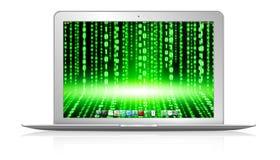 Moderner Laptop auf weißem Hintergrund Lizenzfreie Stockfotografie