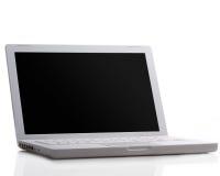 Moderner Laptop getrennt auf Weiß Lizenzfreies Stockfoto