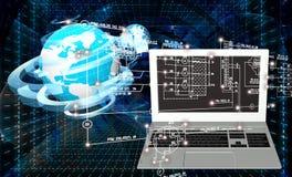 moderner Laptop getrennt auf weißem Hintergrund Stockbilder