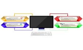 moderner Laptop getrennt auf weißem Hintergrund Lizenzfreies Stockbild