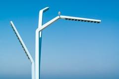 Moderner Laternenpfahl in Scheveningen, die Niederlande Lizenzfreies Stockbild